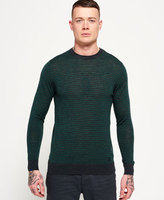 Superdry Call Sheet Merino Button Crew Sweater
