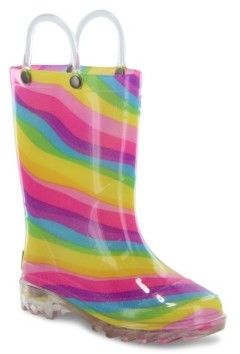 Western Chief Toddler, Little Girl's and Big Girl's Lighted Rain Boots