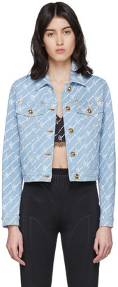 Versace Blue Denim Signature Jacket