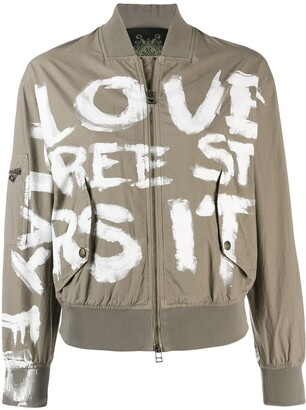 Mr & Mrs Italy Painted Bomber Jacket