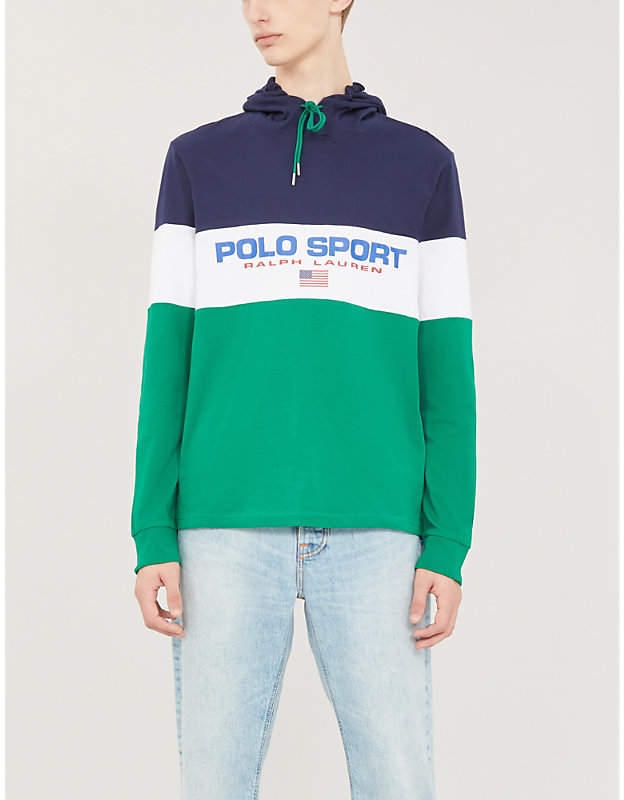 Polo Ralph Lauren Striped cotton-jersey hoody