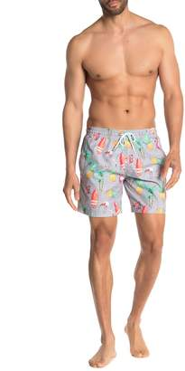 Trunks Surf And Swim Co. Sano Tropical Print Board Shorts