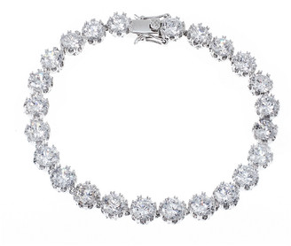 Kenneth Jay Lane Cz By Plated Tennis Bracelet