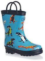 Hatley Wellington Boots - Hatley Roaring T-Rex Wellington Boots - Blue