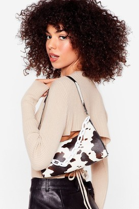 Nasty Gal Womens WANT Saddle Up Cow Shoulder Bag - White - One Size