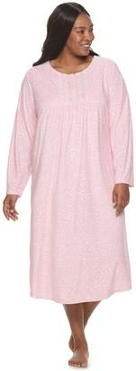 Croft & Barrow Plus Size Velour Nightgown