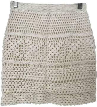 Urban Outfitters Beige Cotton Skirt for Women