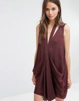 Style Stalker Stylestalker Gathered Front Mini Dress with Neck Detail