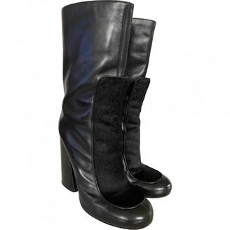 Victoria Beckham Black Leather Boots