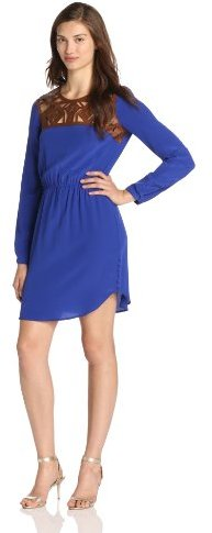 Twelfth St. By Cynthia Vincent by Cynthia Vincent Women's Leather Yoke Dress