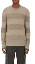 Helmut Lang Men's Wool-Blend Contrast-Stripe Sweater-DARK GREY