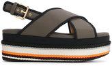 Marni woven platform sandals - women - Cotton/Polyamide/Spandex/Elastane/rubber - 36