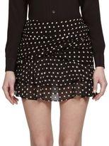 Saint Laurent Polka Dot Ruffled Mini Skirt