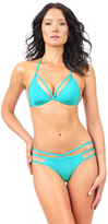 Voda Swim Turquoise Cutout Hipster Bottom