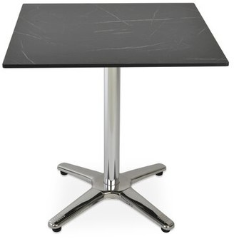 "sohoConcept Lamer Square Multi-Use Dining Table Table Top Color: Black Marble, Size: 30"" H x 27"" L x 27"" W"