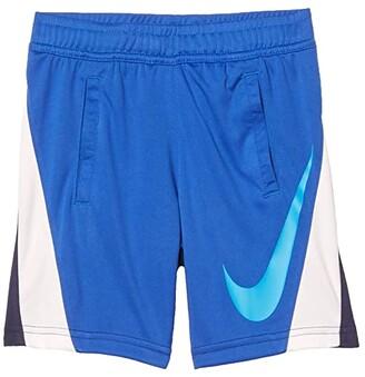 Nike Kids Dri-FITtm Swoosh Color-Block Pull-On Shorts (Little Kids) (Midnight Navy) Boy's Shorts