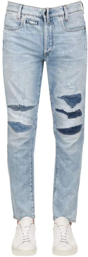 G Star G-Star D-Staq 3d Tapered Washed Denim Jeans