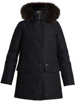 Woolrich Gtx fur-trimmed down parka