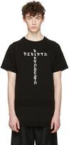 D.gnak By Kang.d Black Jacquard Knit Rebirth T-shirt