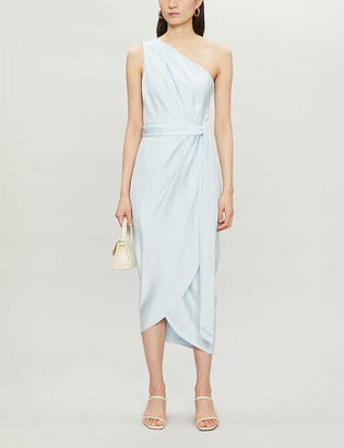 Ted Baker Gabie one-shoulder satin-crepe midi dress