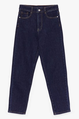 Nasty Gal Womens Mom's Always Right High-Waisted Jeans - Navy - 6