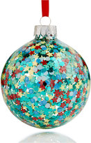 Holiday Lane Glass Glitter Star Ornament, Created for Macy's