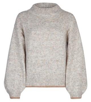 Dorothy Perkins Womens Oatmeal Knitted Trim Jumper