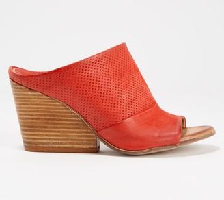 Miz Mooz Leather Slide Wedge Sandals - Kenzie