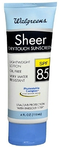 Walgreens Sheer Dry-Touch Sunscreen Lotion SPF 85