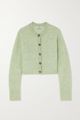 Acne Studios Cropped Stretch-knit Cardigan - Mint