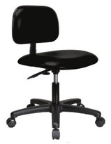 Task Chair Perch Chairs & Stools Upholstery Color: Black Fabric