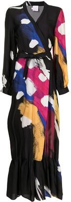 Stella Jean Abstract-Print Wrap Dress