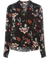 Dorothy Perkins Womens **Vila Black Wrap Print Top