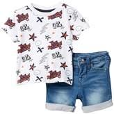 True Religion 2-Piece Tee & Shorts Set (Baby Boys)