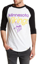 Junk Food Clothing Minnesota Vikings Baseball Tee