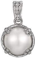 Judith Ripka Sterling Round Mabe Pearl Enhancer