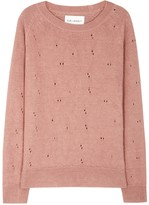 Our Legacy Dusky Pink Distressed Linen Jumper