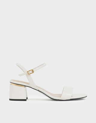 Charles & Keith Open Toe Ankle Strap Block Heel Sandals