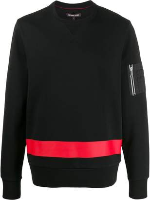 Michael Kors colour block side zip sweatshirt