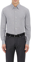 Ermenegildo Zegna Men's Checked Cotton Dress Shirt-GREY