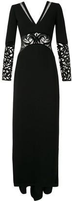 Saiid Kobeisy Sheer Detail Evening Dress
