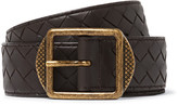 Bottega Veneta - 3.5cm Dark-brown Intrecciato Leather Belt