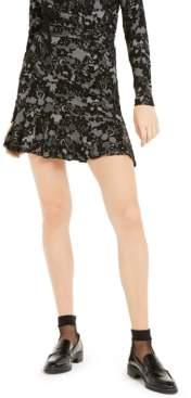 Michael Kors Michael Lace-Print Ruffle-Hem Skirt, Regular & Petite