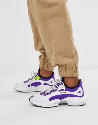 Reebok Running sole fury in white and purple
