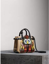 Burberry The Small Banner in Leather with Beasts Motif