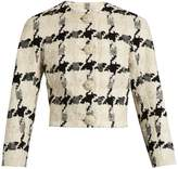 Alexander McQueen Bouclé-tweed cropped jacket