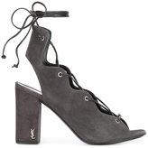 Saint Laurent ghillie sandals - women - Leather/Calf Suede - 35