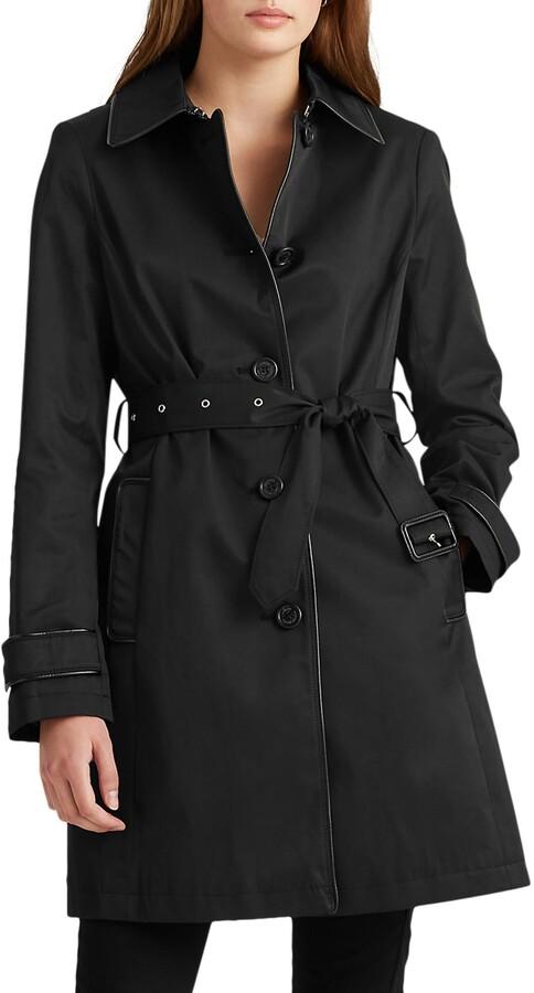 Lauren Ralph Lauren Hooded Trench Raincoat
