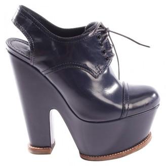 Louis Vuitton Blue Leather Heels