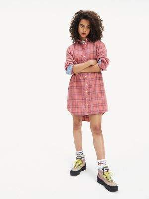 Tommy Hilfiger Check Corduroy Shirt Dress